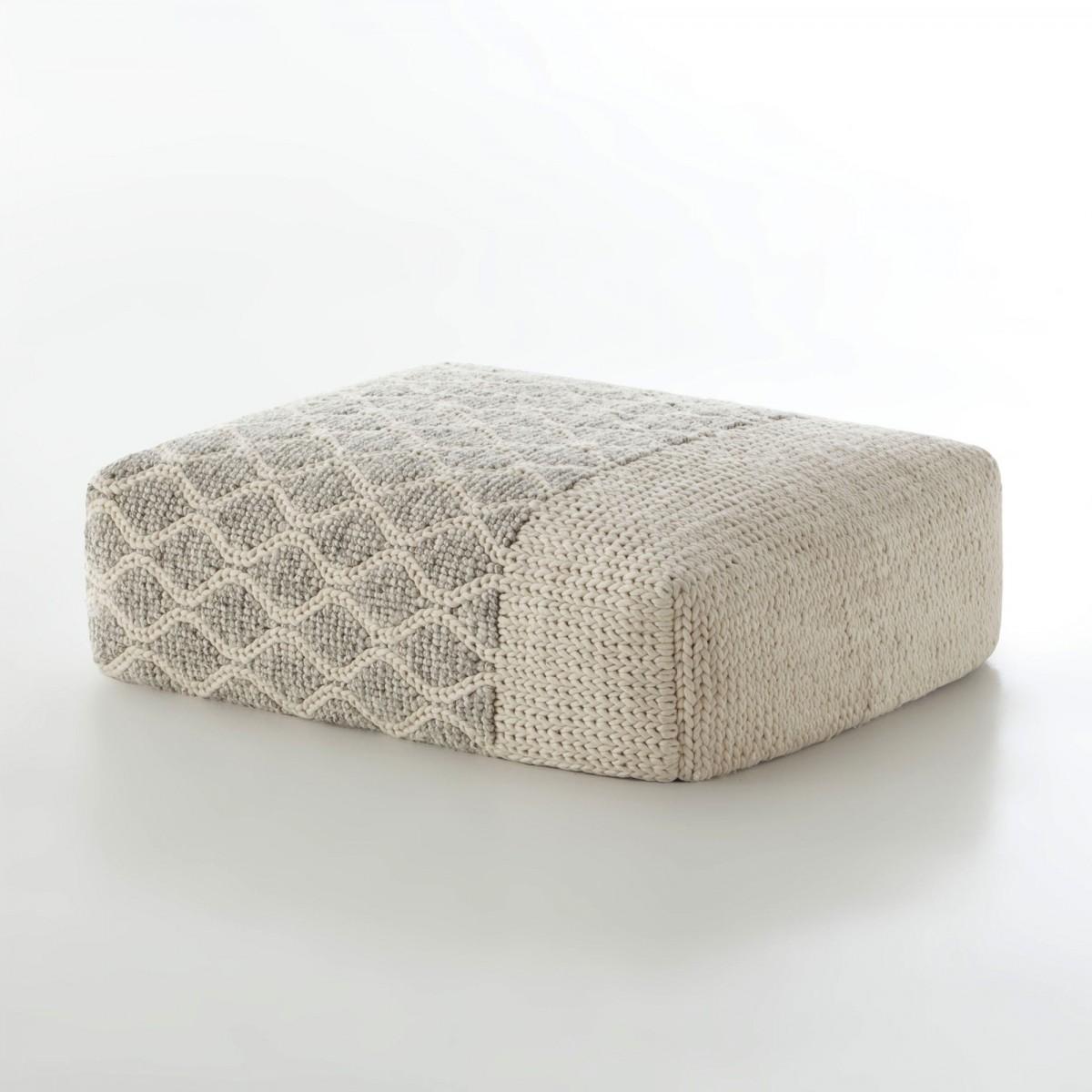 pouf rhombus mangas en laine gan rugs. Black Bedroom Furniture Sets. Home Design Ideas