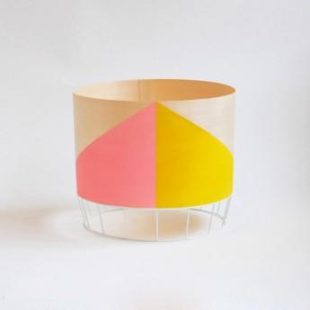 Lampe DOWOOD M rose/jaune
