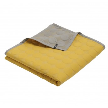 MEGA DOT Couvre-lit jaune