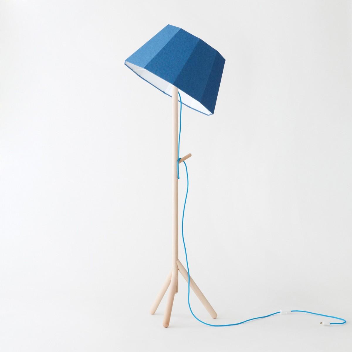lampadaire bleu faces inclinable colonel. Black Bedroom Furniture Sets. Home Design Ideas