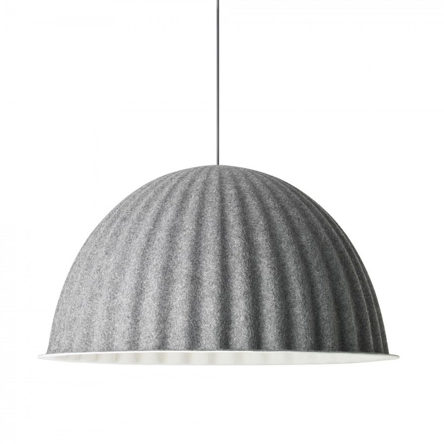 under the bell pendant lamp in grey acoustic felt muuto. Black Bedroom Furniture Sets. Home Design Ideas