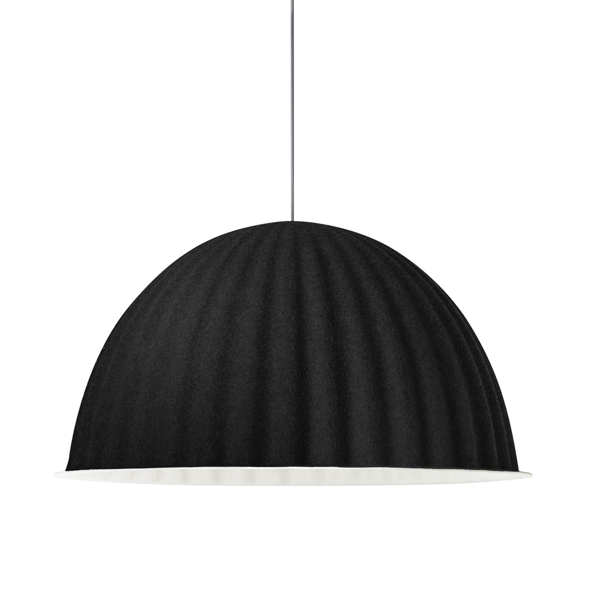 UNDER THE BELL pendant lamp in black acoustic felt - MUUTO