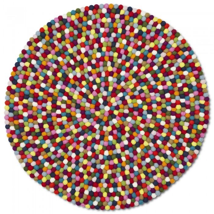 Tapis multicolore pinocchio en billes de laine hay - Tapis laine multicolore ...