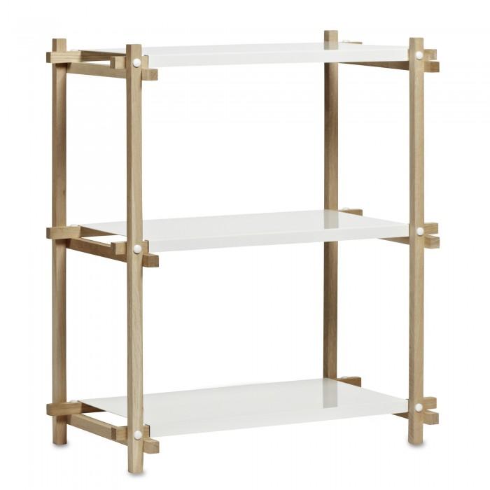 etag re colonne basse woody en bois et m tal laqu hay. Black Bedroom Furniture Sets. Home Design Ideas