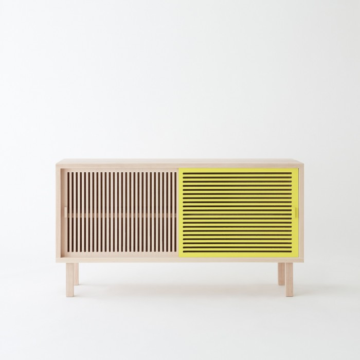 KYOTO Sideboard In Solid Beech Yellow COLONEL
