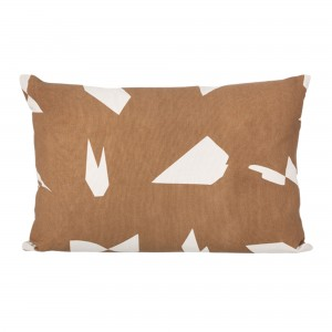 Coussin CUT rectangulaire marron