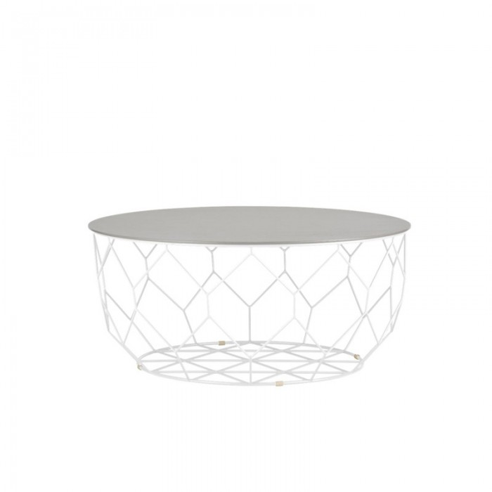 Comb round coffe table bolia for Table basse round
