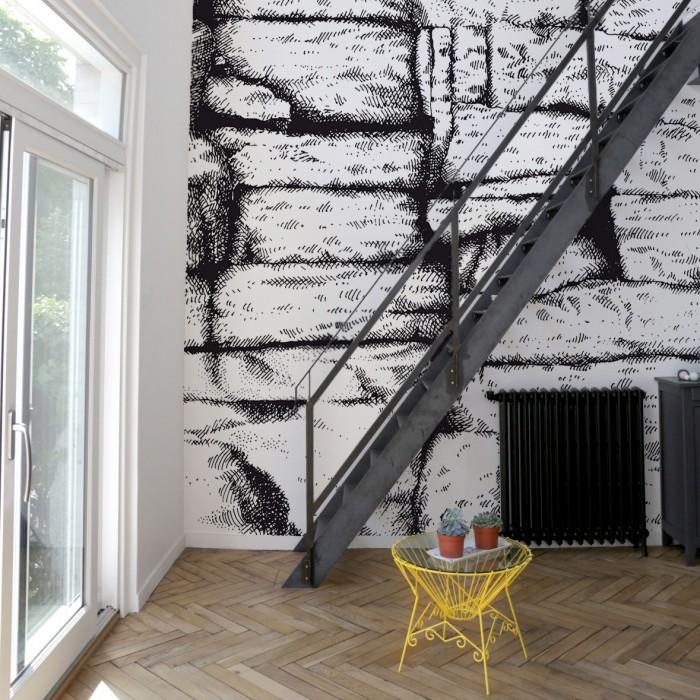 papier peint the cave bien fait. Black Bedroom Furniture Sets. Home Design Ideas