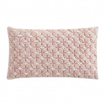 Coussin SILAÏ rectangle rose-gris