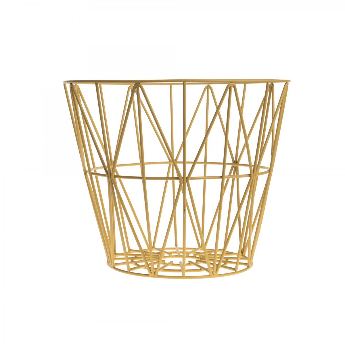wire m basket in colored metal wire ferm living. Black Bedroom Furniture Sets. Home Design Ideas