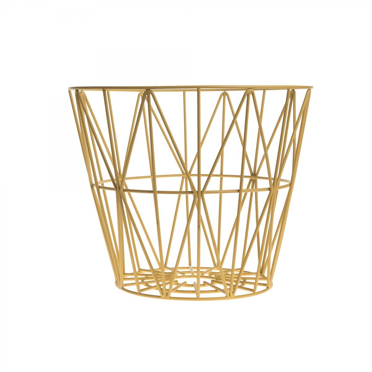 Table basse wire m en fil de m tal color ferm living - Corbeille a papier ikea ...