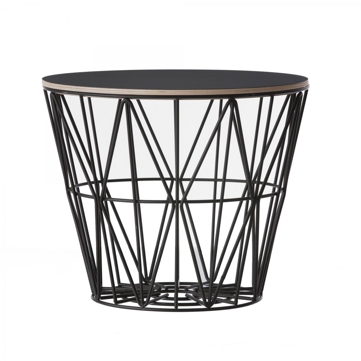table basse wire l en fil de m tal color ferm living. Black Bedroom Furniture Sets. Home Design Ideas