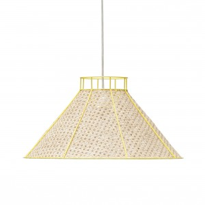 Suspension STRAW jaune