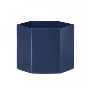 Pot de fleur HEXAGON XL bleu