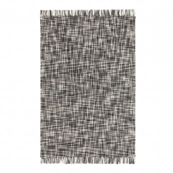 LAMA rug black and white