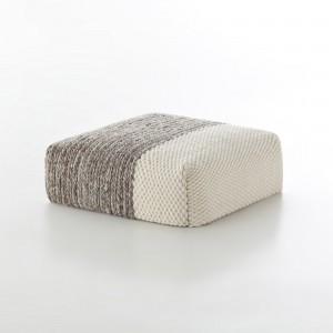PLAIT Mangas pouf white