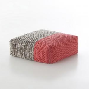 PLAIT Mangas pouf pink