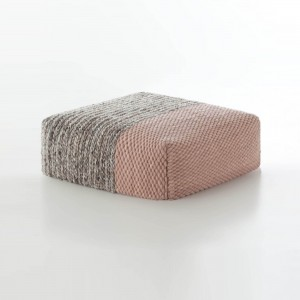 PLAIT Mangas pouf pale pink