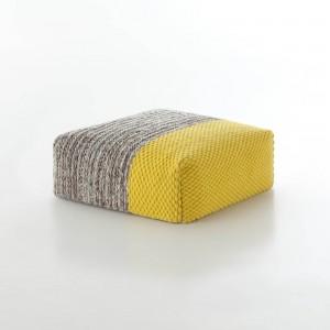 PLAIT Mangas pouf yellow
