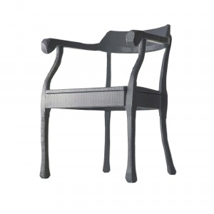 RAW LOUNGE chair dark grey