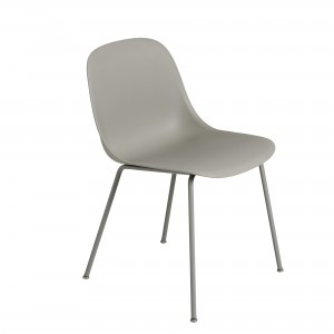 FIBER SIDE chair - tube base - grey