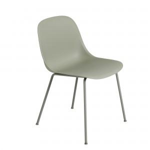 FIBER SIDE chair - tube base - green