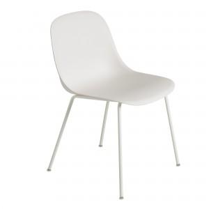 Chaise FIBER side - tube base - blanc