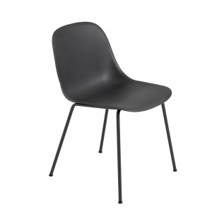 Chaise FIBER side - tube base - noir