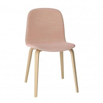Chaise VISU tapissée rose