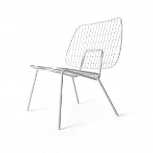 Chaise WM STRING lounge blanc