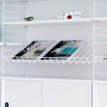 MAGAZINE SHELF / STRING system