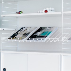 MAGAZINE SHELF - Métal - STRING system