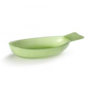Plat POISSON creux vert jade