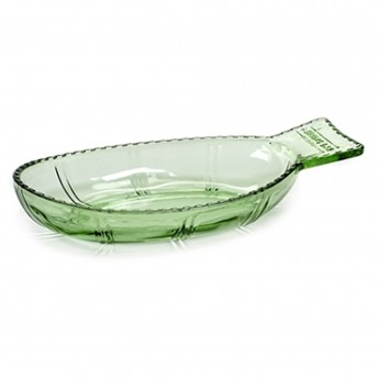 Plat POISSON creux vert transparent