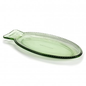 FISH dish transparent green