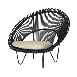 ROY COCOON black armchair