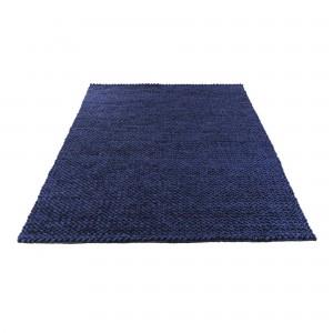 Tapis LOOP bleu/gris