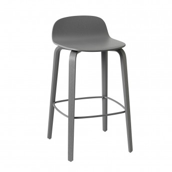 VISU bar stool dark grey