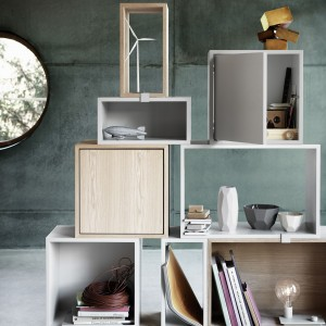 Modul with door/ STACKED shelf system