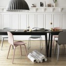Chaise VISU pieds métal tapissée gris