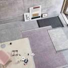 PLY black-white rug