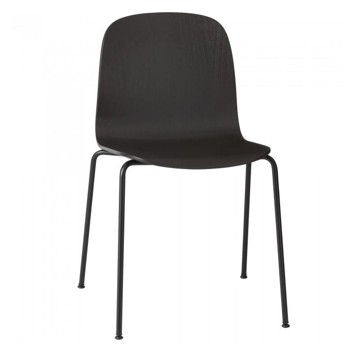 Chaise VISU black - tube base