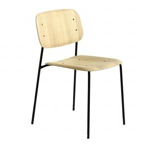 Chaise SOFT EDGE 10 chêne - métal noir