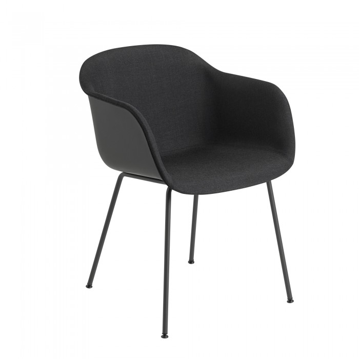 FIBER armchair tube base - black fabric