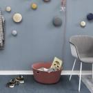 Fauteuil FIBER tube base - tapissée gris