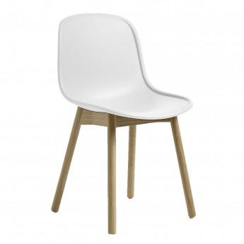 Chaise NEU 13 blanc base chêne