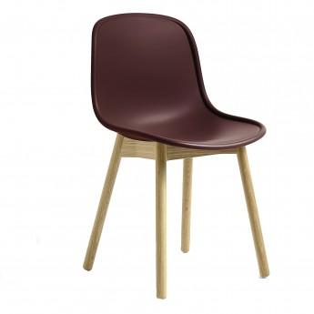 Chaise NEU 13 bordeaux base chêne