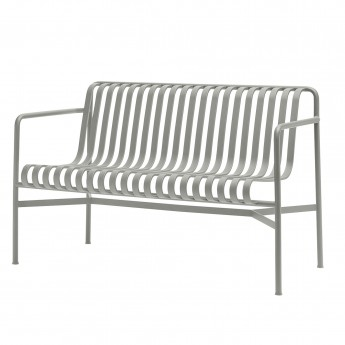 PALISSADE dining bench light grey