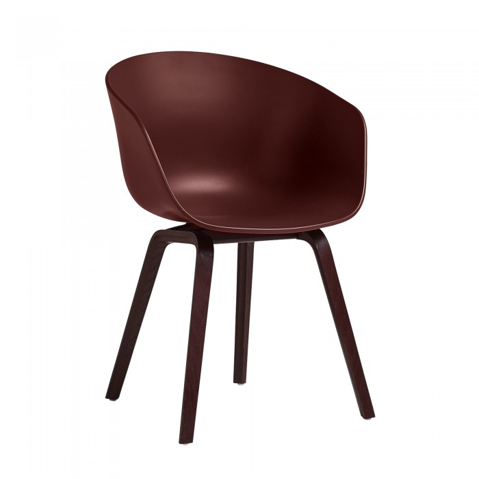 aac 22 brick chair with burgundy base in oak - hay