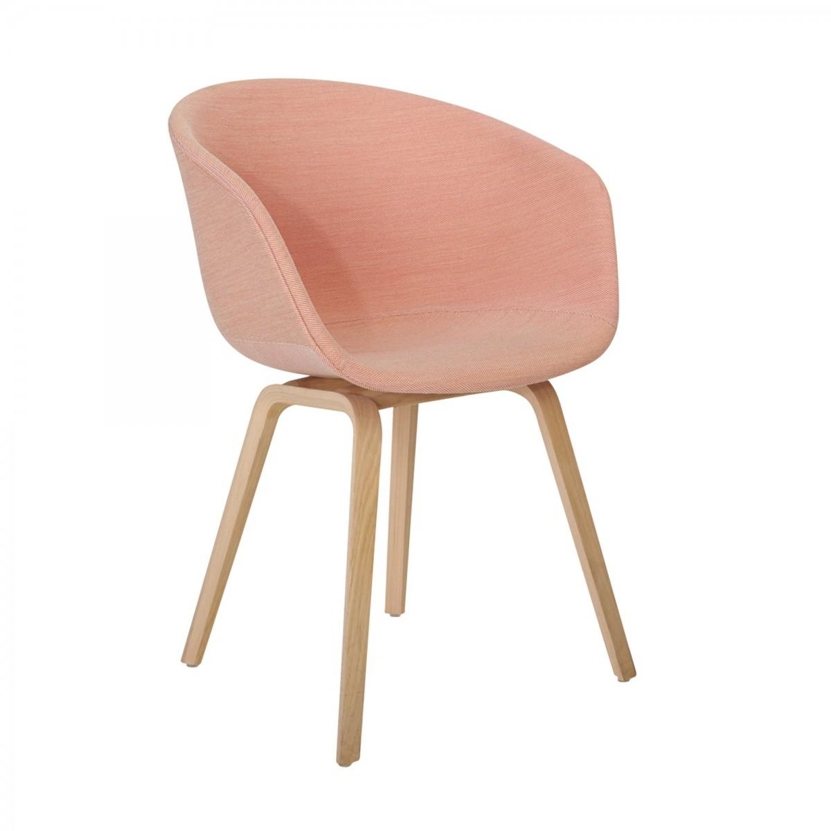 Fauteuil chaise AAC23 en chªne et tissu steelcut trio 515 HAY
